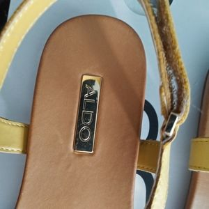 Aldo Shoes - Brand new in box gorgeous yellow aldo sandals